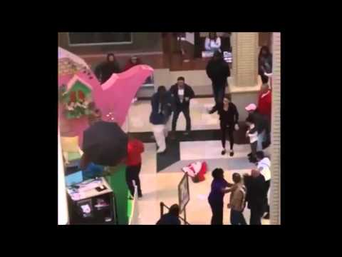 New Jersey Easter Bunny Fighting People In Mall