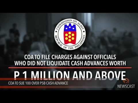 COA To Sue 100 Over P5B Cash Advance