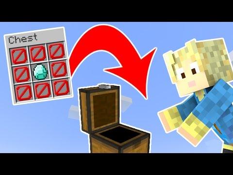 Dansk Minecraft - 1 KISTE 1 TING CHALLENGE!!