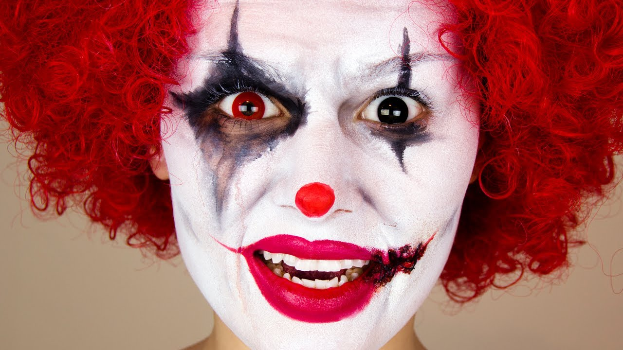 Scary Clown : Halloween Makeup - YouTube