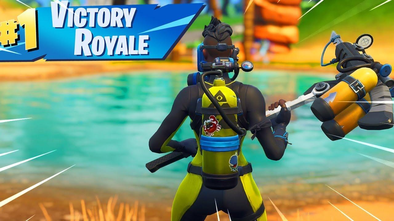 New Fortnite Reef Ranger And Wreck Raider Skin Gameplay Youtube