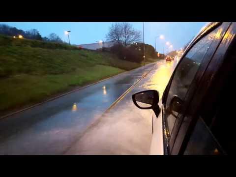 Caernarfon Road, Bangor Flooding 26/12/15