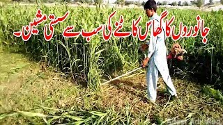 Fodder Cutting Machine in Pakistan by Adeel Adi Vlog | Latest Agriculture Machines 2018 on Low Rate