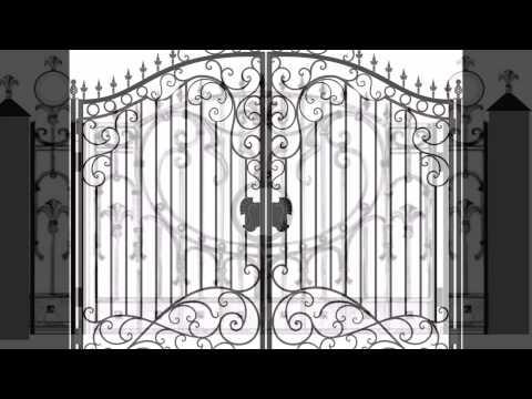 ворота своими руками с элементами ковки