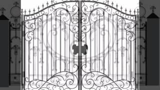 Эскизы кованых ограждений. Кованные ограждения.(Типовые эскизы кованых заборов. Представлены эскизы ковки и кованых изделий, а именно: эскизы ворот и калит..., 2015-01-17T15:19:14.000Z)