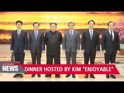 S. Korean president's special envoys treated to Kim Jong-un hosted dinner