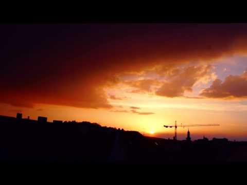 Sonnenuntergang in Saarbrücken, Saarland, Deutschland