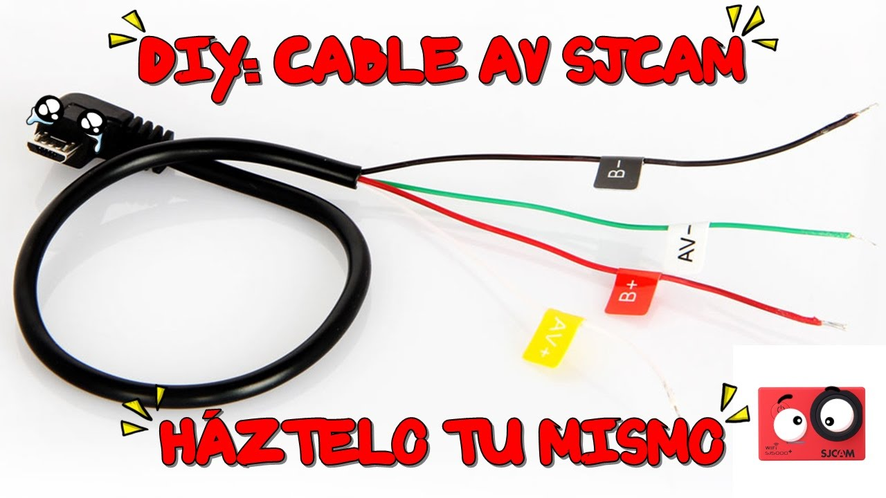 maxresdefault diy cable av sjcam h�ztelo tu mismo (sj5000 , sj4000, xiaomi yi micro usb to rca wiring diagram at aneh.co