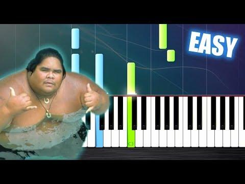 "Somewhere over the Rainbow - Israel ""IZ"" Kamakawiwoʻole - EASY Piano Tutorial by PlutaX"
