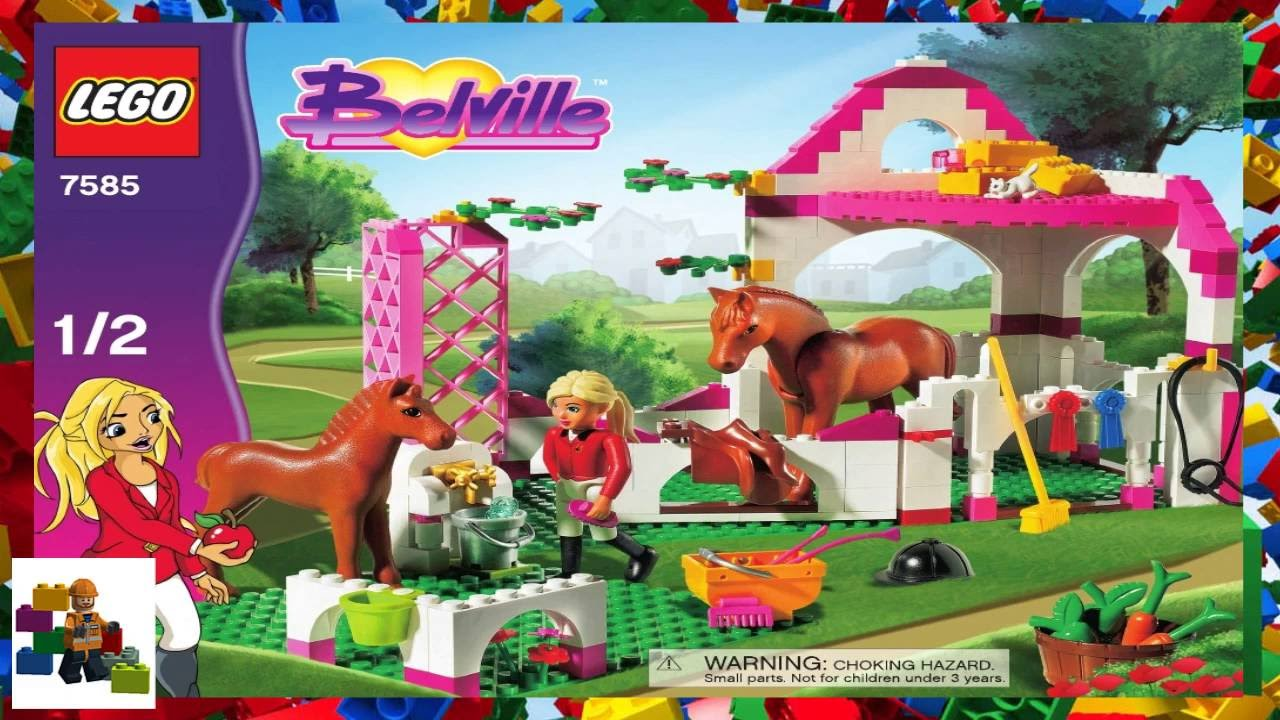 Lego Instructions Belville 7585 Horse Stable Book 1 Youtube