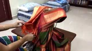 Repeat youtube video How to tie saree to varalakshmi goddess