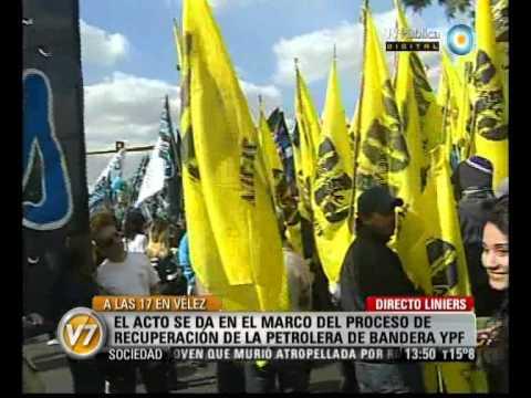 Visión Siete: Acto en Vélez, en respaldo a Cristina Fernández