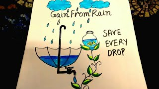How to draw save water save earth drawing for kids save future save water draw step by step altavistaventures Images