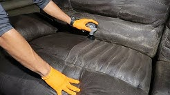 DEEP CLEANING a FILTHY sofa || Satisfying upholstery cleaning