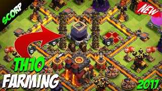 Clash Of Clans - TH10 FARMING BASE/ DE PROTECTION BASE/ 2017 DESIGN