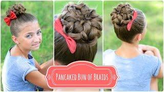 Pancaked Bun of Braids   Cute Girls Hairstyles