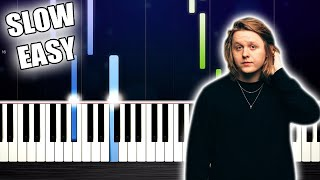 Lewis Capaldi - Someone You Loved - SLOW EASY Piano Tutorial by PlutaX