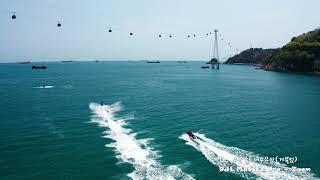 [드론영상]부산 송도해수욕장 거북섬 - 햇살 따뜻한 나…
