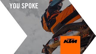 You Spoke - KTM Listened | KTM