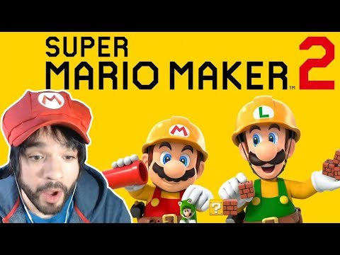 REACCIÓN SUPER MARIO MAKER 2 DE SWITCH 😮😱 - Nintendo Direct 2.13.2019 - En español por ZETASSJ