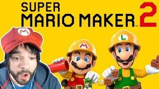REACCIÓN SUPER MARIO MAKER 2 DE SWITCH 😮😱 - Nintendo Direct 2.13.2019 - En español por ZETASSJ