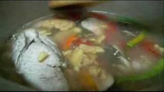 """""""sinigang Na Dalag"""" (mudfish In Tamarind Soup)"""