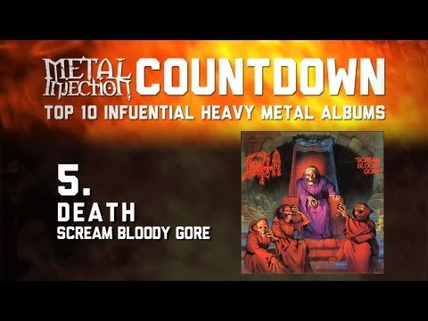 5. DEATH Scream Bloody Gore - Top 10 Influential Heavy Metal Albums Metal Injection