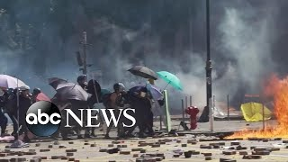 Tensions in Hong Kong escalate after nearly 6 months of protests l ABC News
