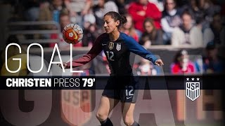 WNT vs. Costa Rica: Christen Press Goal - July 22, 2016