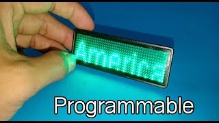 Mini programmable scrolling text