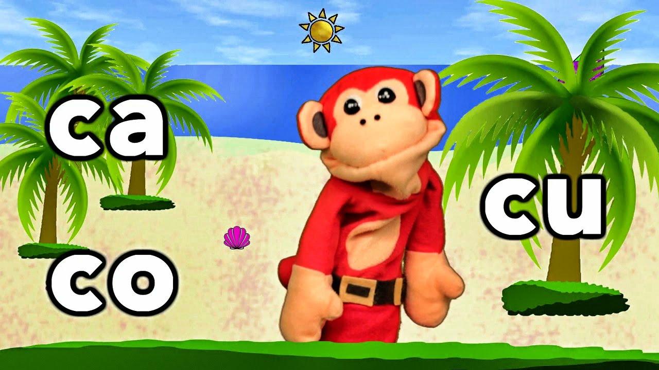 Sílabas ca co cu El Mono Sílabo Videos Infantiles