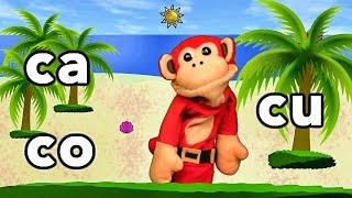 Sílabas ca co cu - El Mono Sílabo - Videos Infantiles - Educación para Niños #