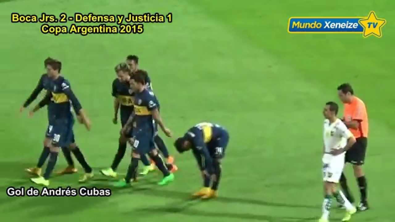 Boca 2 Defensa Y Justicia 1 Copa Argentina 2015 Youtube