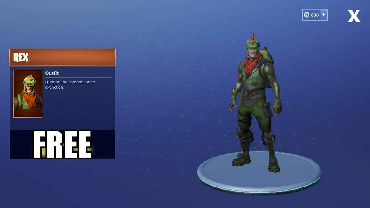 Fortnite Mobile Royale How To Get Free Rex Outfit Youtube