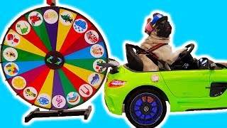 Child Superhero Max comes to play with Nikita Magic wheel