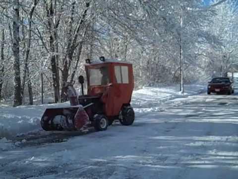 Wheel Horse 310 8 Garden Tractor With Snowblower