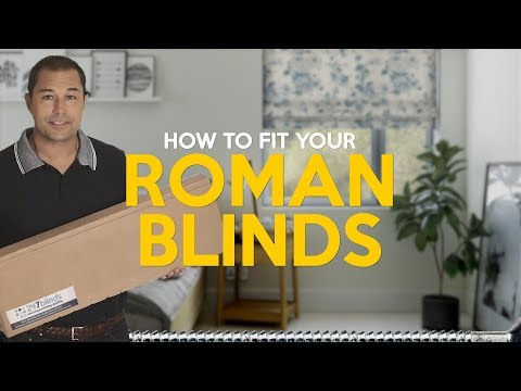 How to fit roman blinds