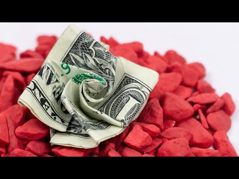 Money Origami Flower 🌸 Easy Dollar Present Ideas
