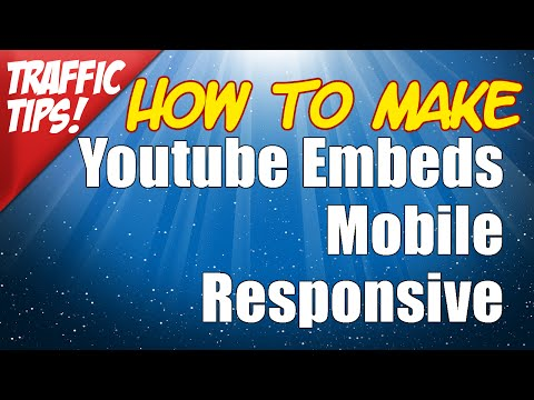 How to Make Youtube Embed Code Mobile Responsive