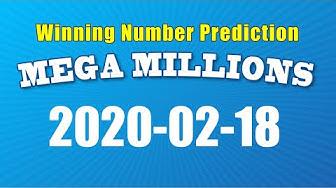 U.S. Mega Millions winning numbers prediction for 2020-02-18