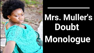Doubt Mrs. Muller Monologue