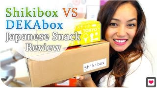 Shikibox Vs Dekabox Japanese Snack Review + Free Gift Coupon