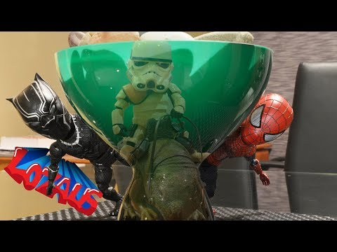 SPIDERMAN BABY STOP MOTION Action Video Part 4 Trailer with BLACK PANTHER