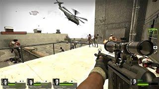 Left 4 Dead 2 - ZMB-13 Custom Campaign Multiplayer Gameplay Walkthrough