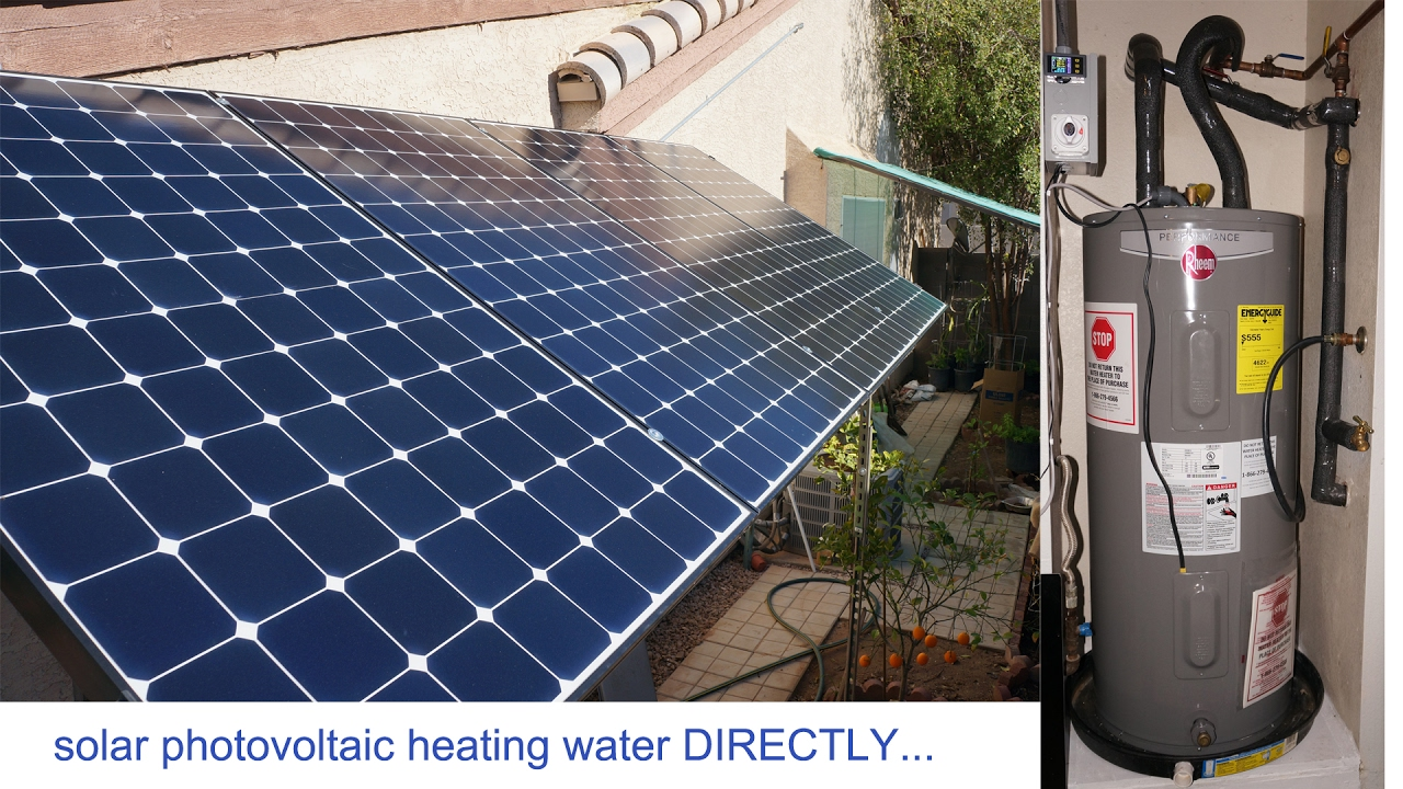 1 3kw Solar Panels Pv To Heat Water Directly 45days