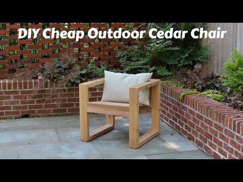 DIY Cheap Modern Outdoor Cedar Chair | 2x4 Build | $45