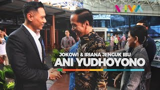Jokowi Jenguk Ibu Ani Yudhoyono ke Singapura