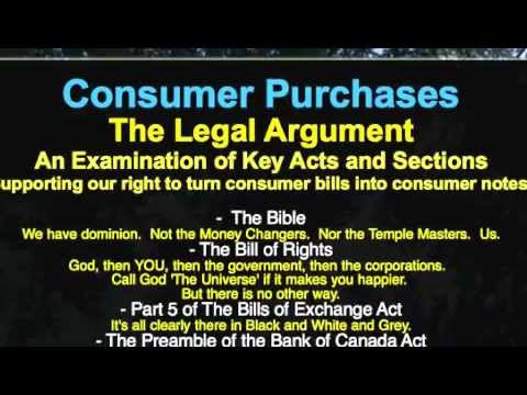 Canada Law Lesson: Consumer Purchases and You - Paying By Consumer Note