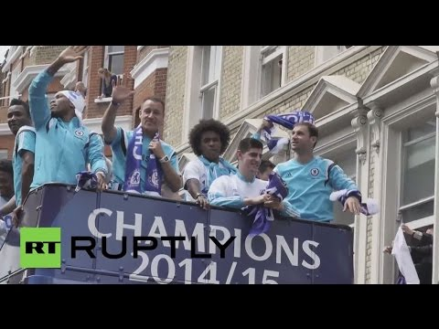 UK: Chelsea celebrate Premier League title through West London's streets