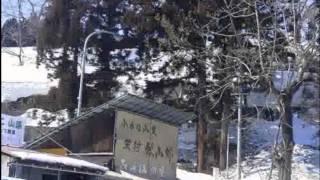 日本最高積雪地点(標柱)のJR飯山線森宮野原駅から十日町市へ@20120314
